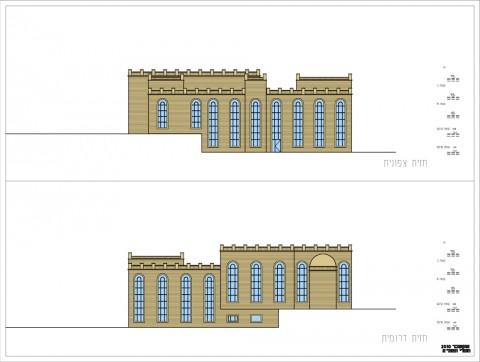 תוכנית חזית צד שני אדריכלית